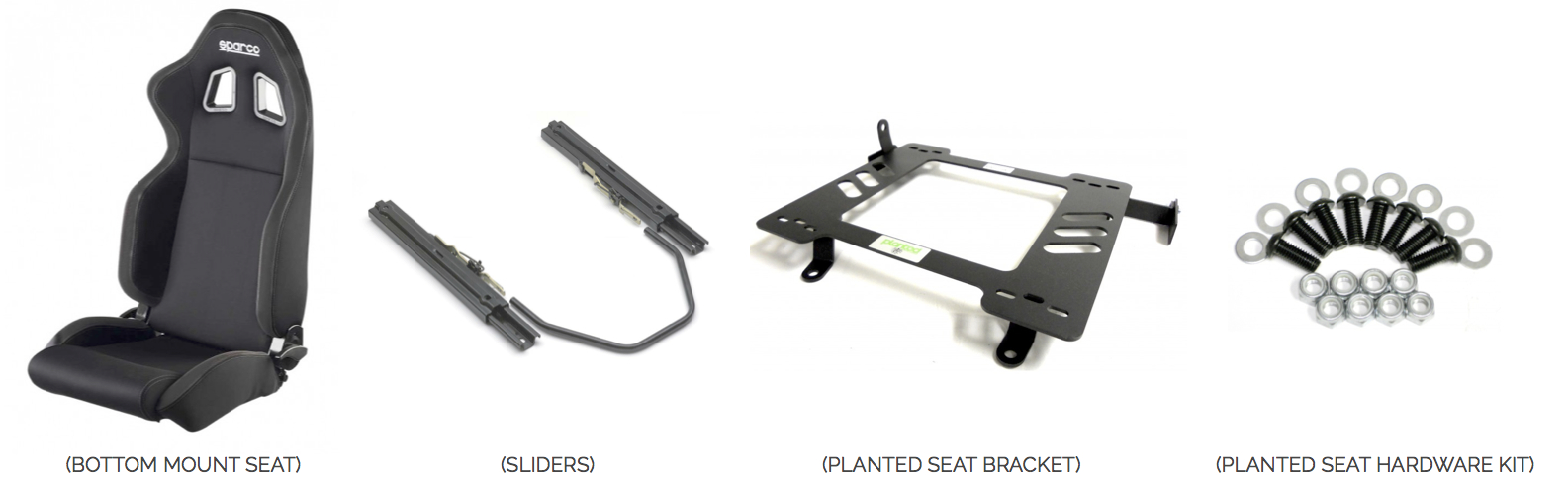 Bottom Mount Seat with Sliders - Installation Instructions