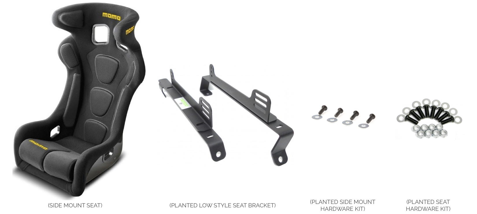 Side Mount Seat Fix Mounted without Sliders - Installation Instructions