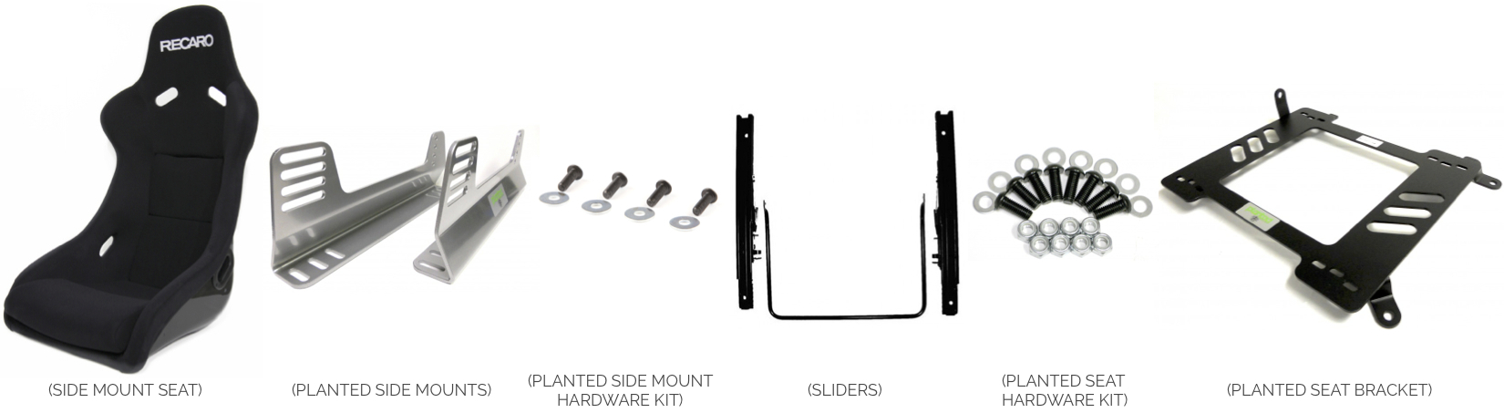 Side Mount Seat with Sliders - Installation Instructions
