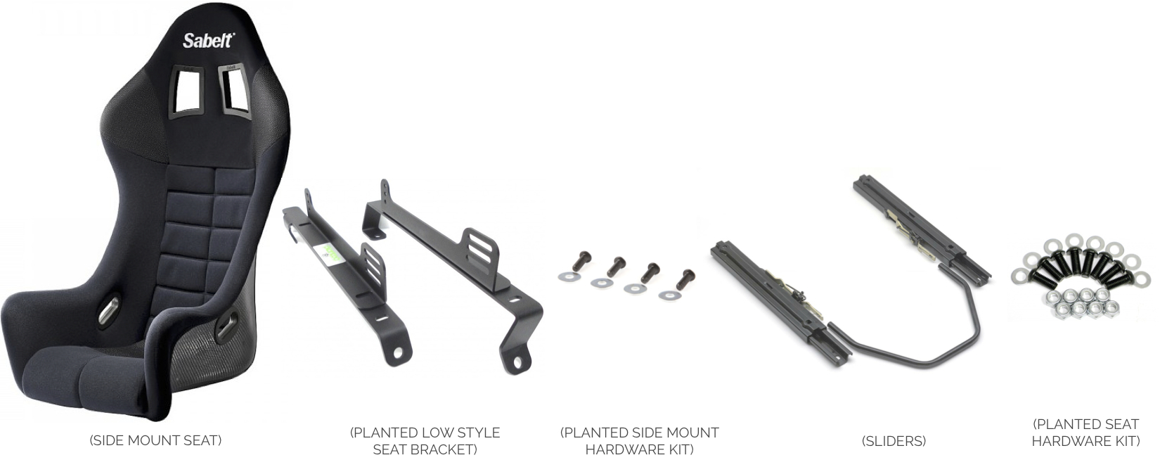 Side Mount Seat with Sliders onto Low Style Seat Bracket- Installation Instructions